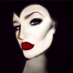 8 pretty halloween makeup ideas - Maleficent