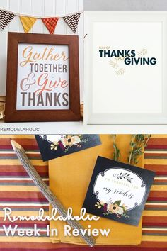 Thanksgiving is just around the corner, start your planning and use one of these Free Thanksgiving Printables featured on Remodelaholic.com #thanksgiving #printables Free Thanksgiving Printables, Thanksgiving Dinner Recipes, Thanksgiving Tablescapes, Free Printables, Traditional Thanksgiving Dinner, Happy Holidays, Thankful, Diy Projects, Diy Crafts