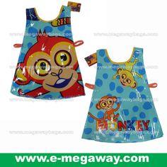 #Glossy #Flash #Wax #Coated #Cotton #Waterproof #Overhead #Apron #Wear #Kids #Children #Girls #Boys #Teenager #Drawing #Painting #Writing #Art #Cartoon #Disney #TingaTales #Tinga #Tales #Monkey #Kindergarten #Nursery #School #Megaway #MegawayBags #CC-1302