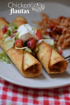 Homemade Chicken Flautas are easy to make and delicious. Fry them, bake them or air-fry this Mexican-inspired dish, dinner, or appetizer. www.kidfriendlythingstodo.com