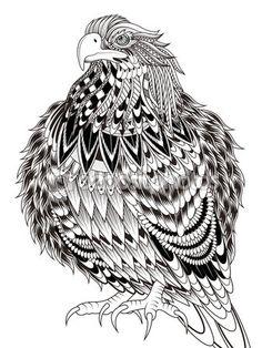 Imponente águila página para colorear — Vector de stock