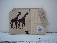 Harris Tweed  Handmade Makeup Cosmetic Bag Purse by thecrimsoncoo