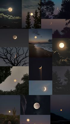 Beautiful Nature Scenes, Beautiful Moon, Night Aesthetic, Aesthetic Collage, Aesthetic Desktop Wallpaper, Iphone Wallpaper, Vintage Moon, Film Photography, Diy Art