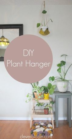 This DIY Plant Hanger is such a fun way to display your favorite plant! Grab that fabric you have laying around the house and visit cleverbloom.com for a full tutorial.  #plants #plantinspiration #houseplants