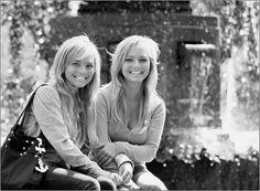 Identical twin girls....i love my twin sissy!