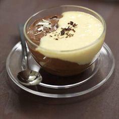 Mousse de chocolate blanco y negro