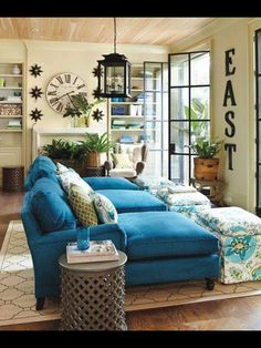 15 Lovely Living Room Designs With Blue Accents  Navy Sofa New Blue Sofa Living Room Design Design Decoration