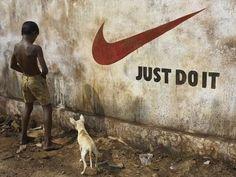 Funny advertising Nike