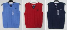 Chaps boys vest cable knit sweater sizes S(8) XL(18-20) NEW #Chaps 14.99