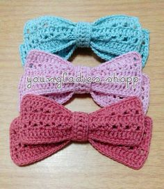 youngladieshome: crochet bow pattern