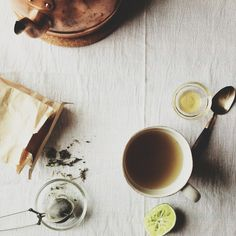 strong loose leaf tea w medicinal herbs. the only thing keeping being off coffee interesting..