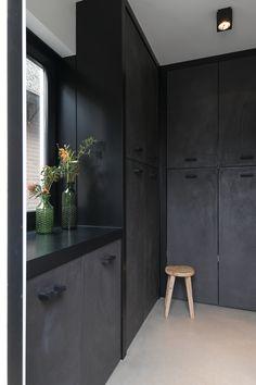 Office Kitchenette, Tall Cabinet Storage, Locker Storage, Interior Garden, Pantry, Garage, Inspireren, Modern, House