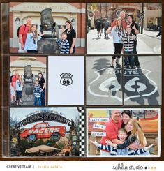 Disney's Carsland Route 66 hybrid pocket scrapbooking page using Project Mouse (Cars) by Britt-ish Designs and Sahlin Studio