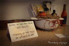 Italian gift basket given away at blind wine tasting