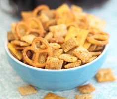Make this Buffalo Chex Mix for game day.
