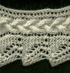 Plaited Lace Edging - Knittingfool Stitch Detail