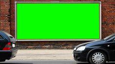 public advertising sheet in green screen free stock footage