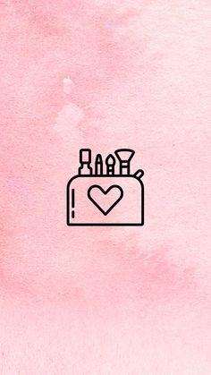 INSTAGRAM STORY COVER : MAKEUP WWW.INSTAGRAM.COM/JORDANRENIE Instagram White, Instagram Logo, Free Instagram, Instagram Makeup, Instagram Feed, Pink Highlights, Story Highlights, Instagram Story Template, Instagram Story Ideas