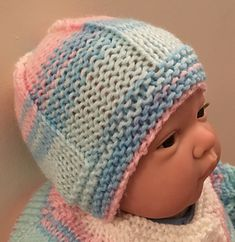 Ravelry: LOMOND Baby Hat pattern by marianna mel Baby Hat Patterns, Knitting Patterns, Homemade Christmas Crafts, Knitted Hats, Crochet Hats, Bonnet Hat, Little People, Little Gifts, Baby Hats