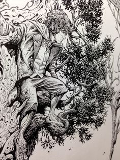 Aaron Horkey - The Two Towers WIP2