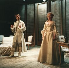 """1985 - From the production of """"Les Liasions Dangereuses"""" Alan Rickman and Lindsay Duncan."""