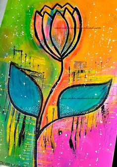 Original Art - Mixed Media Flower