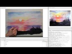 """Урок рисования гуашью """"Рисуем Закат"""" - YouTube"""