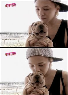 Big Bang's G-Dragon makes his pet dog popular too - that's cause Gaho is so cute :3