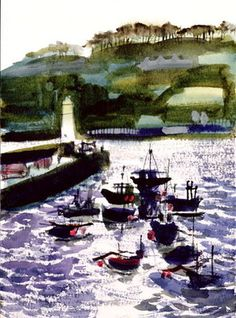 Fine Art Print of St. Ives Harbour, High Tide by Felicity House