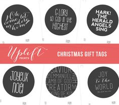 Red christmas gift tags bible verse isaiah 96 printable christmas gift tags christian christmas printable by uplift prints negle Choice Image