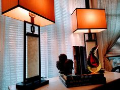 Pair of MID CENTURY Asian-Inspired Table Lamps by VINTAGEDESIGNDELIGHT on Etsy https://www.etsy.com/listing/558113825/pair-of-mid-century-asian-inspired-table