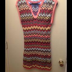 Aztec summer dress Sleeveless ,V. Neck Aztec summer dress . With under slip, 33 inches from shoulder to hem BCBGMaxAzria Dresses Midi