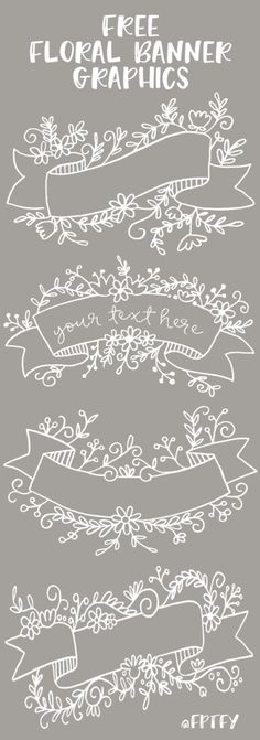 Free Floral Banner Graphics | Craft Gossip | Bloglovin'
