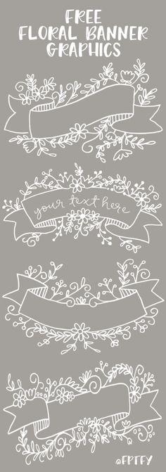 Free Floral Banner Graphics | Craft Gossip | Bloglovin'