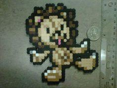 Kon the bear lion plushy from Bleach Magnet 8-Bit Art