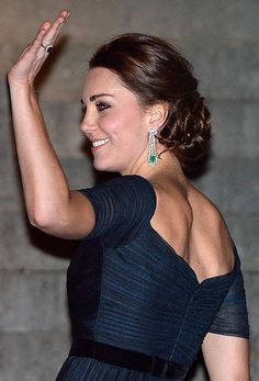 Kate Middleton's pretty updo hairstyle at the Met in NYC