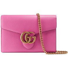 The GG Marmont mini chain wallet has a removable chain shoulder strap and  extensive interior space. Made in our signature lightweight leather, ...