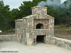 stone oven built by Fred in Texas.