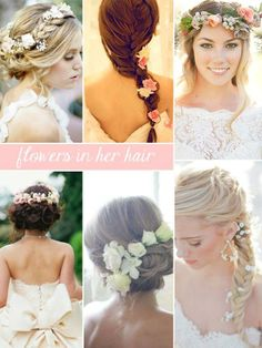 Flowers in Your Hair - Hairstyles and Beauty Tips