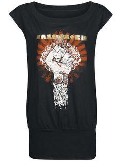 Camiseta top mujer por Rammstein $29.99 € en EMP... la mayor tienda online de Europa de Merchandising oficial de bandas de Metal, Hard Rock , Heavy, Ropa Gótica , Punk y todo lo que te hace falta para vivir el Rockstyle en toda su dimensión. EMP Rock Mailorder España