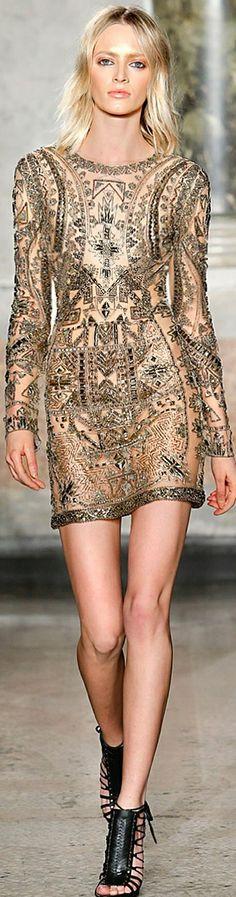 Emilio Pucci ~ Chic Mini Dress, Nude w Black