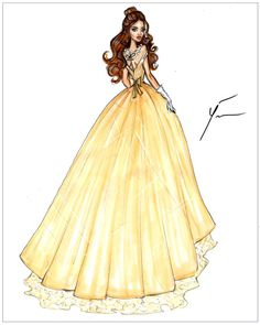 Disney Princesses 'Belle' by Yigit Ozcakmak
