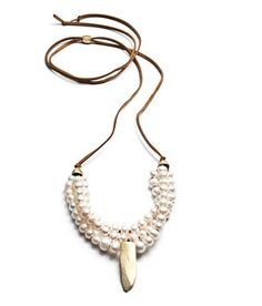 Nataile Frigo - Pearls & Small Dagger Necklace #jewelry #designer #bloomshowroom #nataliefrigo