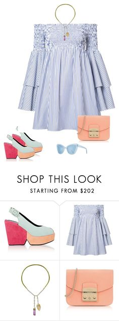 """""""Stereo"""" by audrey-balt on Polyvore featuring Robert Clergerie, Caroline Constas, Ricardo Rodriguez, Furla and Prism"""
