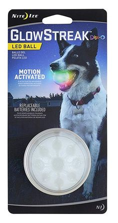 Nite Ize GlowStreak LED Dog Ball, Bounce-Activated Light Up Dog Ball, Replaceable Batteries, Disc-O Color Changing LED * To view further for this item, visit the image link. (This is an affiliate link) Up Dog, Ball Lights, Dog Chews, Color Changing Led, Cool Items, Dog Life, Dog Toys, Fun Workouts, Light Up