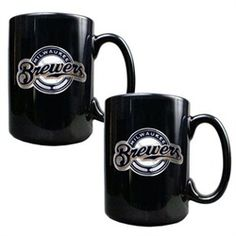 super popular 5e631 46fd5 Milwaukee Brewers Black Coffee Cup Set Black Coffee Mug, Coffee Mug Sets,  Mugs Set