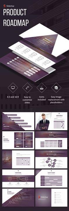 Product Roadmap - PowerPoint Templates Presentation Templates