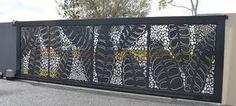 Screen Art Residential: automatic sliding security gate.  http://www.screenart.net.au