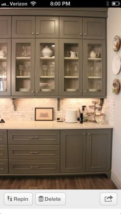 Love the cabinet storage and back splash