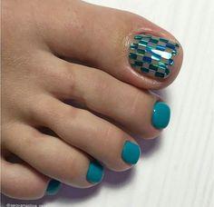 Toe Nail Art, Toe Nails, Toe Polish, Toe Nail Designs, Swag Nails, Beauty Nails, Finger, Turquoise, Pedicures